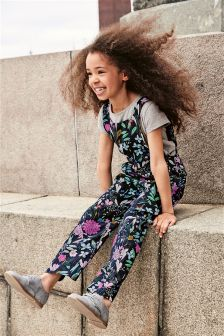Printed Dungaree Set (3-16yrs)
