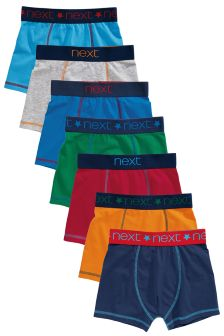 Coloured Trunks Seven Pack (2-16yrs)