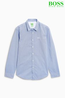 Boss Green Blue Buster Fine Stripe Shirt