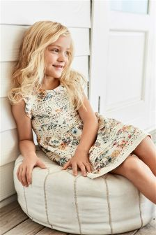 Lace Trim Dress (3-16yrs)
