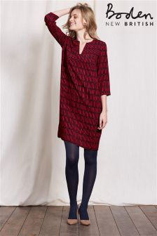 Boden Red Matchsticks Print Tunic Dress