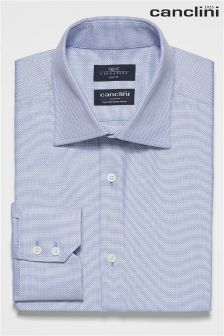 Signature Canclini Textured Slim Fit Shirt