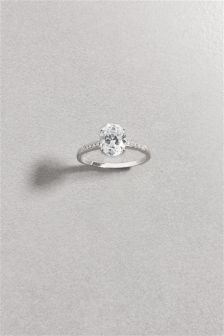 Crystal Effect Solitaire Ring