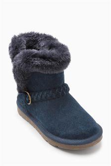 Plait Pull On Boots (Older Girls)