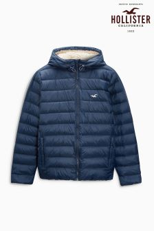Hollister Navy Hooded Jacket