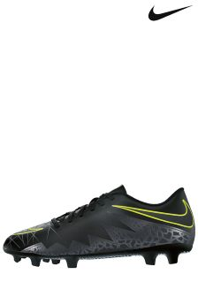 Nike HyperVenom Firm Ground Black Football Boot
