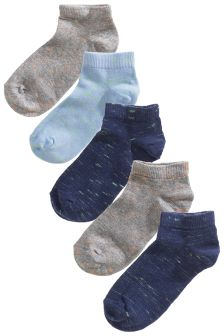 Fleck Trainer Socks Five Pack (Older Boys)