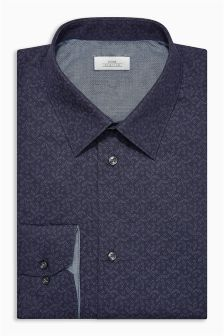 Leaf Print Regular Fit Shirt