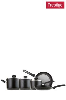 5 Piece Black Prestige Dura Forge Pan Set