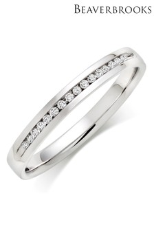 Beaverbrooks Platinum Diamond Wedding Ring