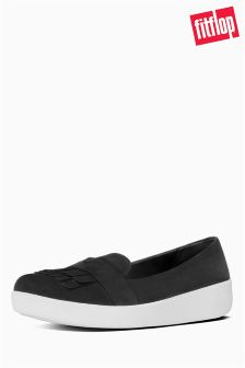 FitFlop™ Black Suede Sporty Loafer