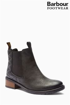 Barbour® Black Quilted Chelsea Boot