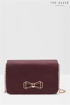 Ted Baker Purple Jewel Bow Clutch Bag