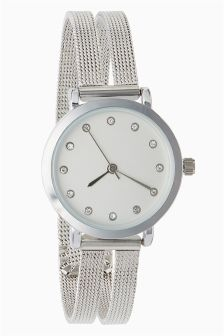 Double Mesh Strap Watch