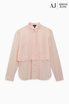 Armani Jeans Pink Layered Blouse