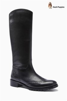 Hush Puppies Black Emilia Boot