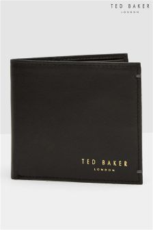 Ted Baker Bifold Black Leather Wallet