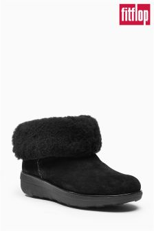 FitFlop™ Black Mukluk Shorty II Suede Boot