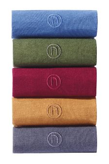 N Embroidery Socks Five Pack