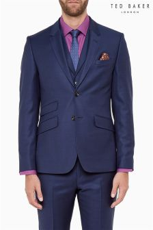 Ted Baker Blue Crosshatch Suit Jacket