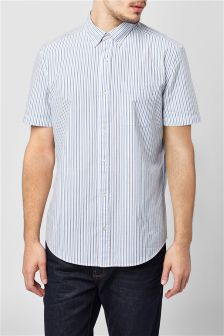 Short Sleeve Fine Stripe Shirt