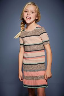 Stripe Knitted Dress (3-16yrs)