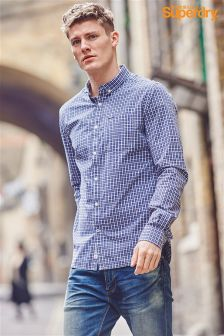 Superdry Blue Micro Check Shirt