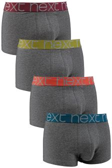 Contrast Waistband Hipsters Four Pack