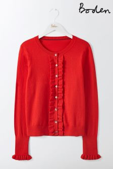 Boden Post Box Red Bernadette Cardigan