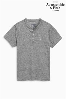 Abercrombie & Fitch Short Sleeve Henley Top