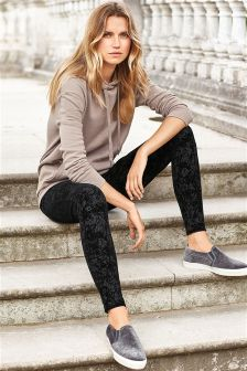 Flock Velvet Leggings