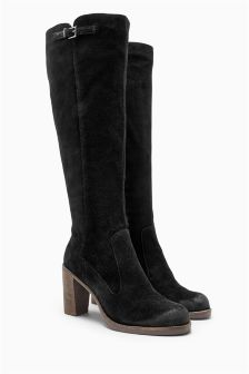 Signature Suede Long Boots