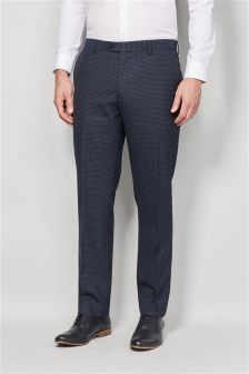 Gingham Slim Fit Suit Trousers