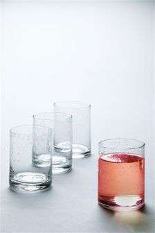Set Of 4 Bubble Effect Tumblers