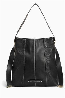 Panelled Hobo Bag