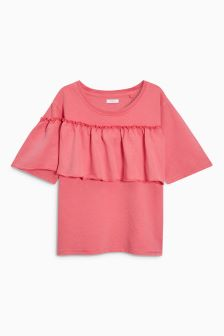 Ruffle Short Sleeve Sweatshirt (3-16yrs)