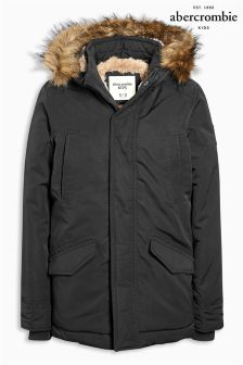Abercrombie & Fitch Black Parka Jacket