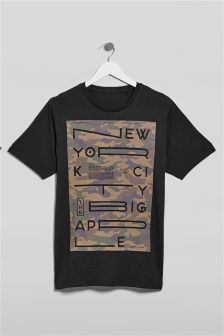 Camouflage Graphic T-Shirt