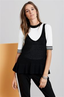 Two Piece Knitted Layer Top