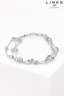 Links of London™ Sterling Silver Essential Beaded Three Row Bracelet