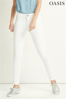 White Oasis Jade Stretch Skinny Jean