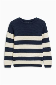 Stripe Fisherman Crew Neck Jumper (3-16yrs)