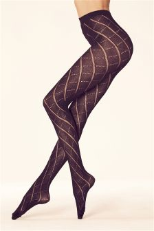 Argyle Knit Tights