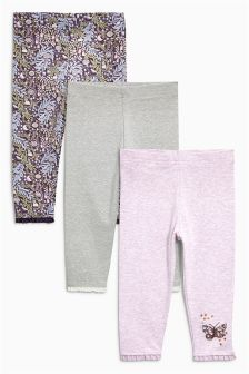 Butterfly Leggings Three Pack (3mths-6yrs)