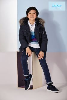 Baker by Ted Baker Boys Navy Parka