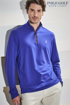 Ralph Lauren Golf Blue Long Sleeve 1/2 Zip Jumper