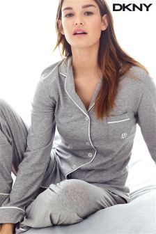 DKNY Grey Pima Stretch Lounge Set