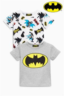 Batman® Short Sleeve T-Shirts Two Pack (3mths-6yrs)