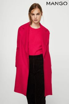 Mango Dark Pink Smart Coat