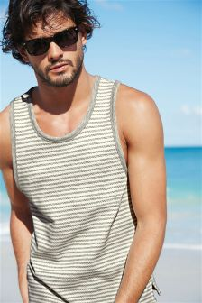Textured Stripe Vest